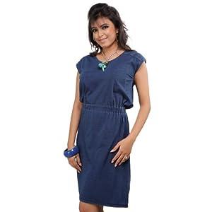 Benetton Blue Cotton Women - Dresses