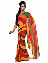 Rajasthani Lehriya Multi Color Georgette Saree