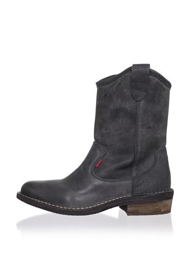 Kickers Kid's Starboot2 Short Western Boot (Big Kid) (Black)