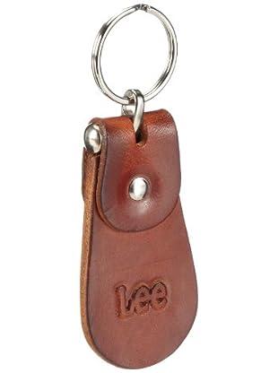 Lee KEYCHAIN LH635001 - Llavero de cuero para hombre (Marrón)