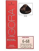 Igora Royal 6-68 Dark Blonde Chocolate Red Hair Colour-60ml