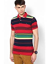 Red Half Sleeve Polo T-Shirt