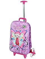T-Bags For Kids 3D Baby Butterfly Purple Children's Trolley Bag