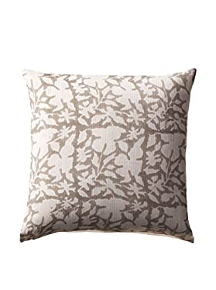Shades of India Shadow Floral Pillow Cover, Natural/Pearl