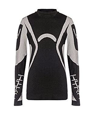 Hyra Camiseta Manga Larga Junior Negro / Gris 10-12 años (140/152 cm)