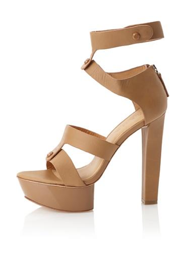 L.A.M.B. Women's Mollie Platform Sandal (Tan)