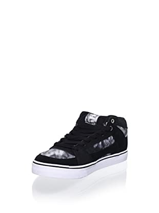 Etnies Women's RVM Hi Top Sneaker (Black/White/Silver)