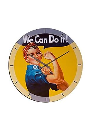 Artopweb Reloj De Pared We Can Do It !
