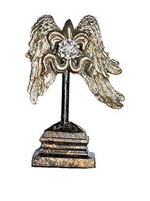 MAC Sculpture Baton Rouge Mini Wing With Rhinestone Accent, Silver