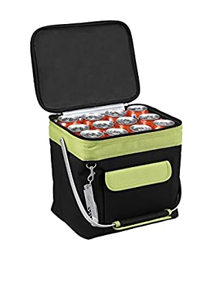 Picnic at Ascot Multi-Purpose 24 Can Beverage Cooler, Black/Apple Green