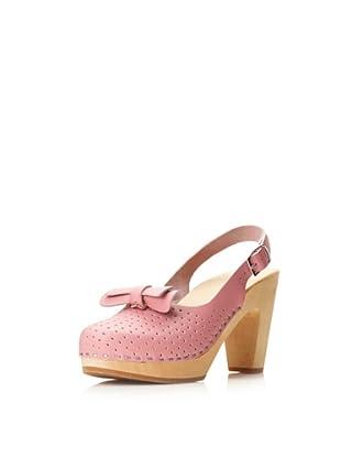 Swedish Hasbeens Women's Mimmi Slingback Sandal (Bubble Gum Pink)