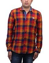 Romano Men's Multi Coloured Cotton Shirt