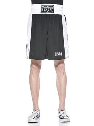 Benlee Shorts Amateur Fight Trunks (Negro / Blanco)