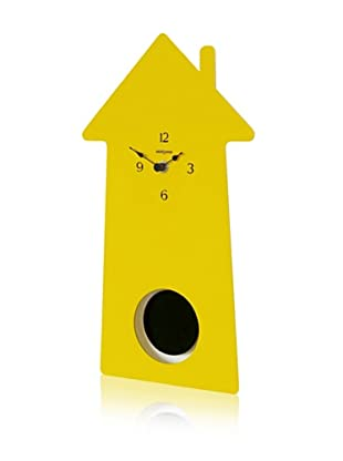 Diamantini & Domeniconi Home-Sweet-Home Clock, Yellow