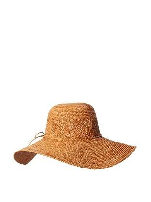 Florabella Women's Daisy Crochet Raffia Hat (Amber)