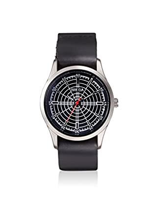 Breda Men's 1652B Radar Black Leather Watch