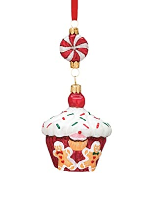 Reed & Barton European Glass Blown Cupcake Ornament, 5.5