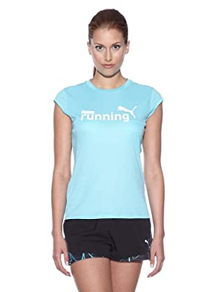 PUMA Laufshirt CR Graphic Slogan Short Sleeve (blue curacao/pumarunning)