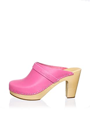 Swedish Hasbeens Women's Sky High Clog (neon pink)
