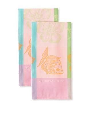 Garnier-Thiebaut Set of 2 Gariguette Kitchen Towels, Fruity, 22