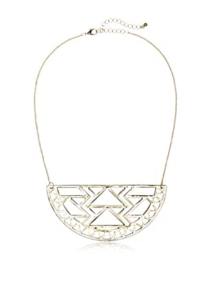 Sparkling Sage Cut-Out Large Half Circle Necklace