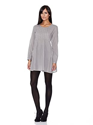 Peace & Love Vestido Liso (gris)
