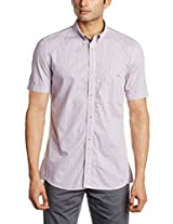 French Connection Men's Casual Shirt (52BIR_Madder_XXL)