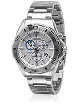 An7110-56A Silver/White Chronograph Watch CITIZEN
