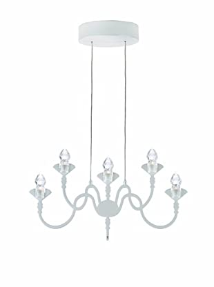 Fabbian Edge 5-Light Pendant, White
