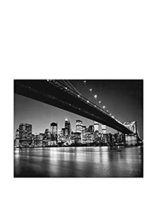 Artropweb Panel Decorativo Silberman New York New York Skyline di Manhattan 90x120 cm