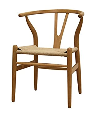 Baxton Studio Mid-Century Modern Wishbone Chair, Natural