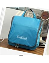 PacknBuy Travel Cosmetic Hanging Bag Organizer for Toiletries Shave Make Up Kit pouch - BLUE Color