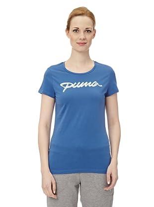 Puma Damen T-Shirt Pumascript II (delft blue)