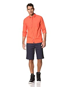 Yigal Azrouël Men's Sea Island Cotton Shirt (Mandarin Orange)