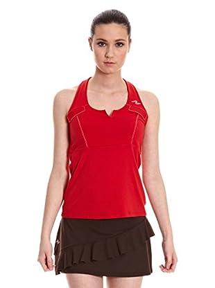 Naffta Camiseta Tenis Pádel (Rojo / Blanco)