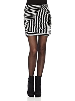 Rare London Falda Stripes (Blanco / Negro)