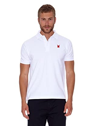 Polo Club Polo Custom Fit Escudo Liso (Blanco)