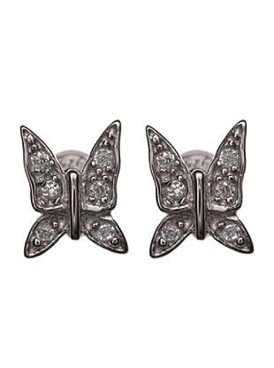 Córdoba Joyeros Pendientes Mariposa Zirconium