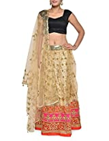 Embroidered gold luxe lehenga set