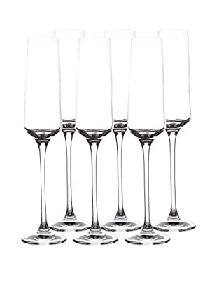 BergHOFF Set of 6 Chateau 6.4-Oz Champagne Glasses