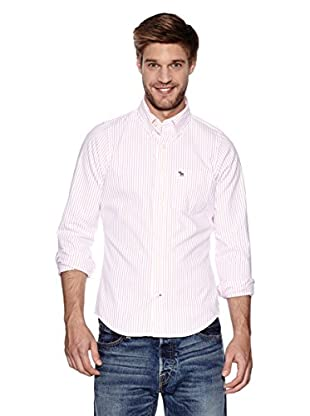 Abercrombie & Fitch Hemd Classic (weiß / pink)