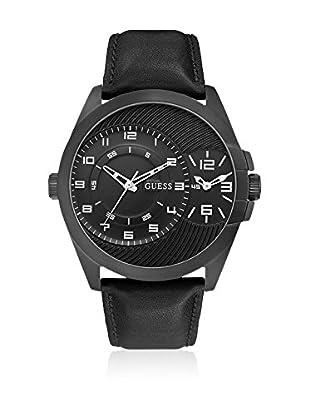 Guess Uhr mit japanischem Mechanikuhrwerk Man Alpha schwarz 48.1 mm