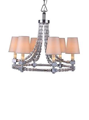 Urban Lights Cristal Medium 6-Light Pendant Lamp with Shades, Polished Nickel