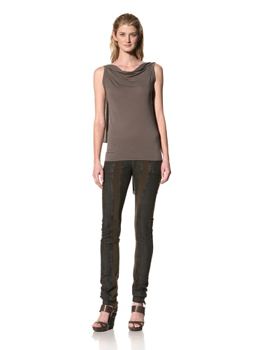 RICK OWENS Women's Sleeveless Draped Back Top (Darkdust)