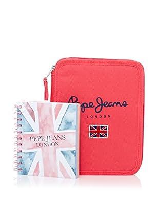 Pepe Jeans Cuaderno + Estuche Flag Coral