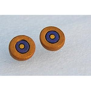 Petals of Earth Terracotta Orange and purple stud earrings