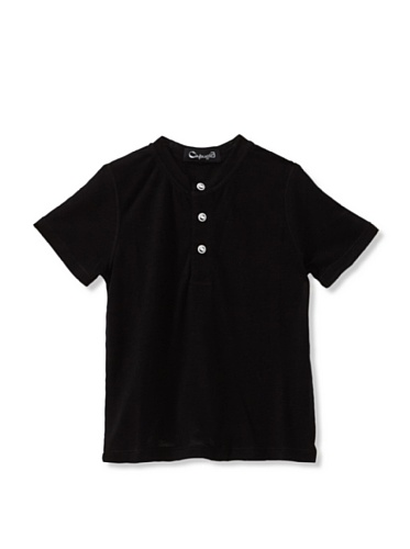 A for Apple Candy Henley Tee (Black)
