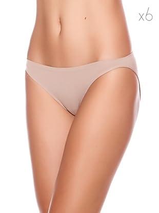 Unno Bikini Talle Bajo Pack 6 (Sombra)