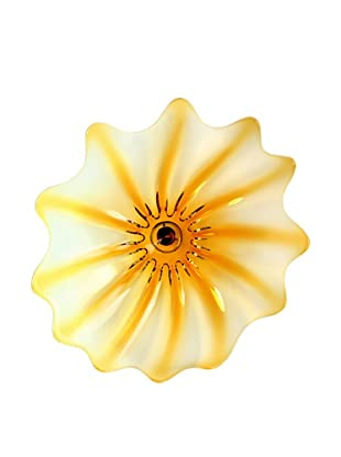 La Meridian Hand-Blown Glass Wall Plate (Amber)