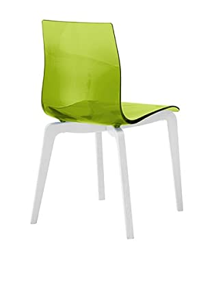 Domitalia Gel-L Chair, Transparent Green/White
